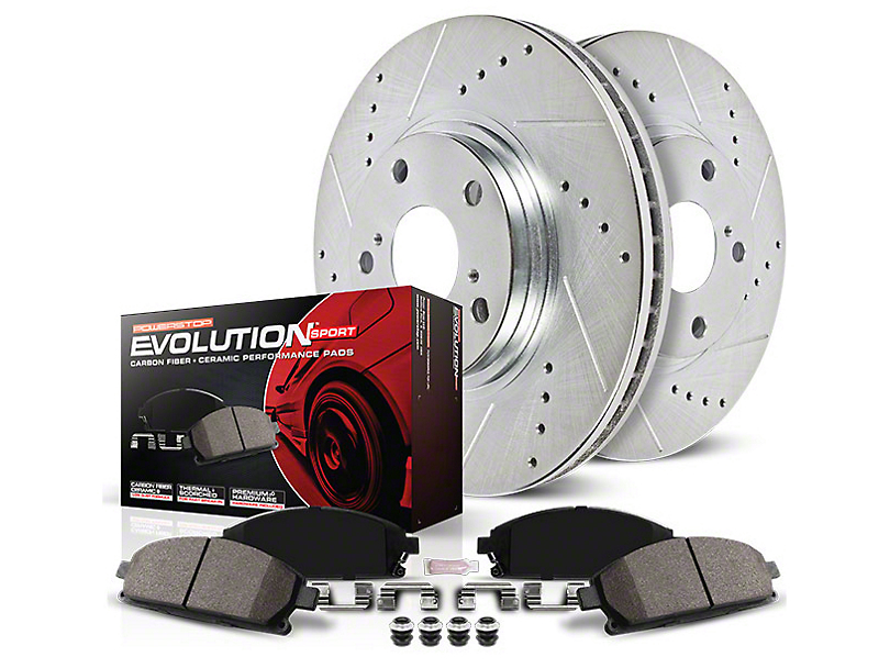 Power Stop Z23 Evolution Sport Brake Rotor & Pad Kit - Front & Rear (07-14 GT500)