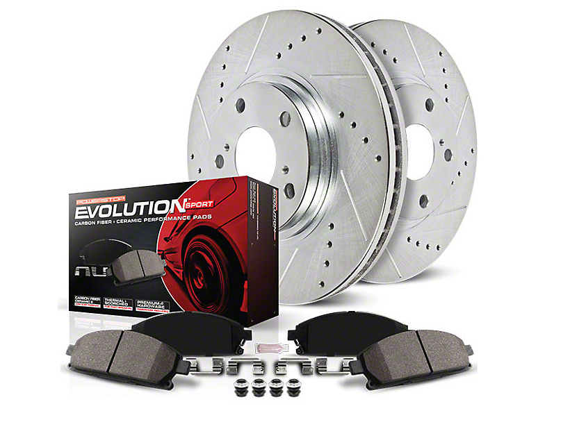 Power Stop Z23 Evolution Sport Brake Rotor & Pad Kit - Front & Rear (15-19 Standard EcoBoost, V6)