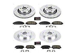 Power Stop Z23 Evolution Sport Brake Rotor and Pad Kit; Front and Rear (15-21 Standard EcoBoost, V6)