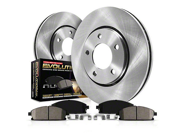 Power Stop OE Replacement Brake Rotor and Pad Kit; Front (05-10 GT; 11-14 Standard GT)