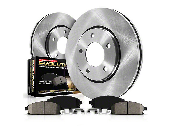 Power Stop OE Replacement Brake Rotor & Pad Kit - Front (15-20 GT w/ Performance Pack)