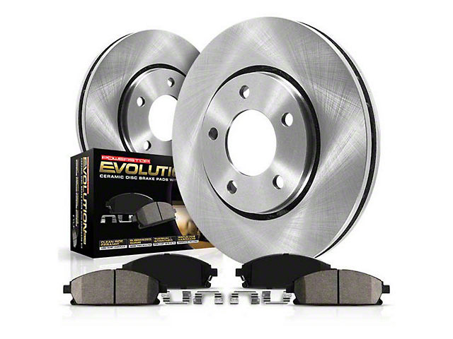 Power Stop OE Replacement Brake Rotor & Pad Kit - Front (15-20 Standard EcoBoost, V6)