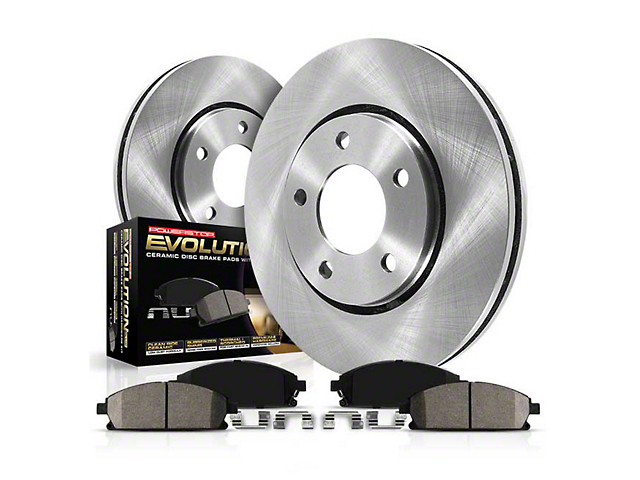 Power Stop OE Replacement Brake Rotor and Pad Kit; Front and Rear (05-10 GT; 11-14 Standard GT)
