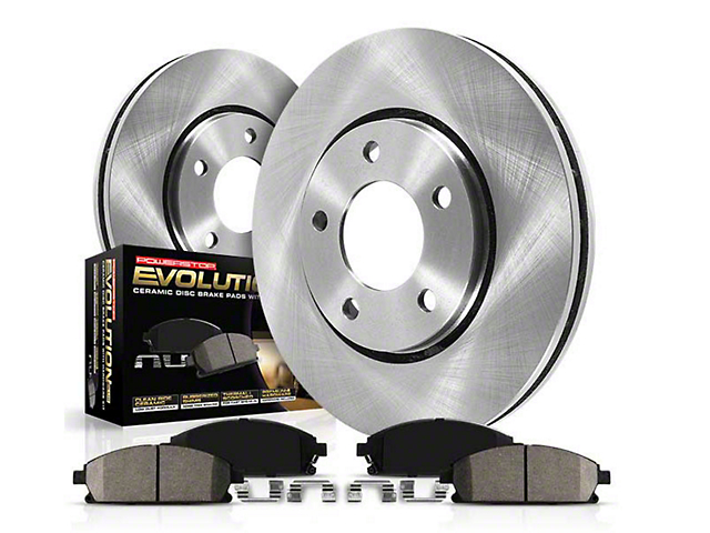 Power Stop OE Replacement Brake Rotor & Pad Kit - Front & Rear (05-14 V6)