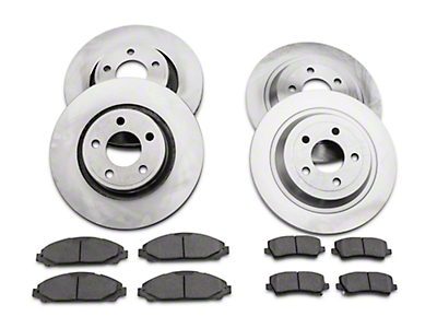 Power Stop OE Replacement Brake Rotor & Pad Kit - Front & Rear (15-18 Standard EcoBoost, V6)