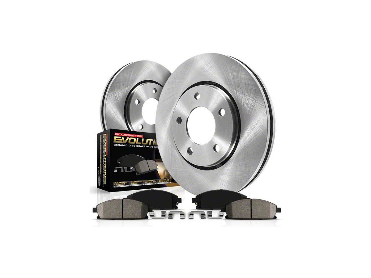 Front Disc Rotor /& Ceramic Brake Pads for 2005-2014 Ford Mustang