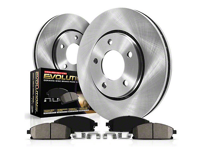 Power Stop OE Replacement Brake Rotor & Pad Kit - Rear (15-20 GT, EcoBoost, V6)