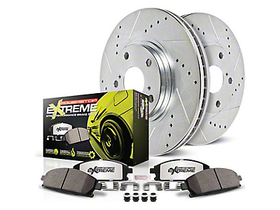 Power Stop Z26 Street Warrior Brake Rotor & Pad Kit - Front (05-10 GT; 11-14 Standard GT)