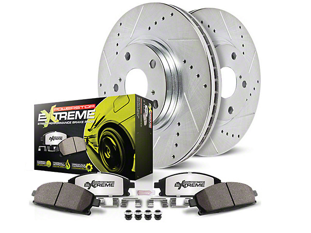 Power Stop Z26 Street Warrior Brake & Rotor Pad Kit - Front (11-14 GT Brembo; 12-13 BOSS 302; 07-13 GT500)