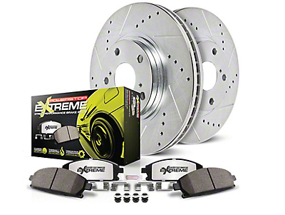 Power Stop Z26 Street Warrior Brake Rotor & Pad Kit - Front (11-14 GT Brembo; 12-13 BOSS 302; 07-13 GT500)