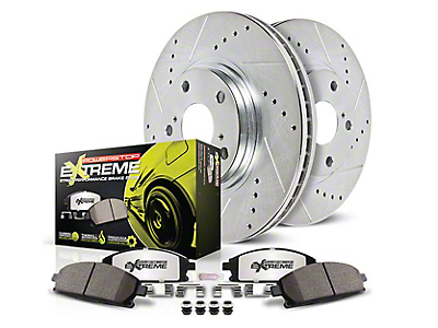 Power Stop Z26 Street Warrior Brake & Rotor Pad Kit - Front (15-18 Standard GT, EcoBoost w/ Performance Pack)