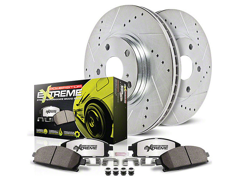 Power Stop Z26 Street Warrior Brake Rotor & Pad Kit - Front (15-19 Standard EcoBoost, V6)