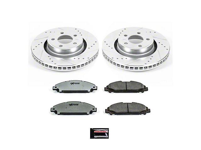 Power Stop Z26 Street Warrior Brake & Rotor Pad Kit - Front (15-18 Standard EcoBoost, V6)