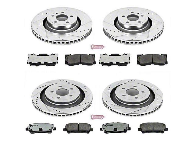 Power Stop Z26 Street Warrior Brake & Rotor Pad Kit - Front & Rear (15-18 Standard GT, EcoBoost w/ Performance Pack)