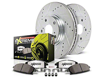 Power Stop Z26 Street Warrior Brake & Rotor Pad Kit - Front & Rear (15-18 Standard GT, EcoBoost w/ Performance Pack)
