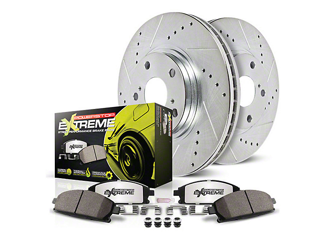 Power Stop Z26 Street Warrior Brake & Rotor Pad Kit - Rear (05-14 All, Excluding 2012 GT500)
