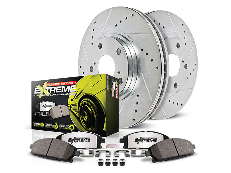 Power Stop Z26 Street Warrior Brake & Rotor Pad Kit - Rear (94-04 Cobra, Bullitt, Mach 1)