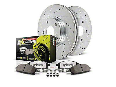 Power Stop Z26 Street Warrior Brake & Rotor Pad Kit - Rear (94-04 GT, V6)