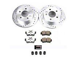 Power Stop Z26 Street Warrior Brake Rotor and Pad Kit; Rear (94-04 GT, V6)
