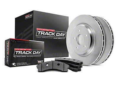 Power Stop Track Day Brake Rotor & Pad Kit - Front (15-17 GT w/ Performance Pack)