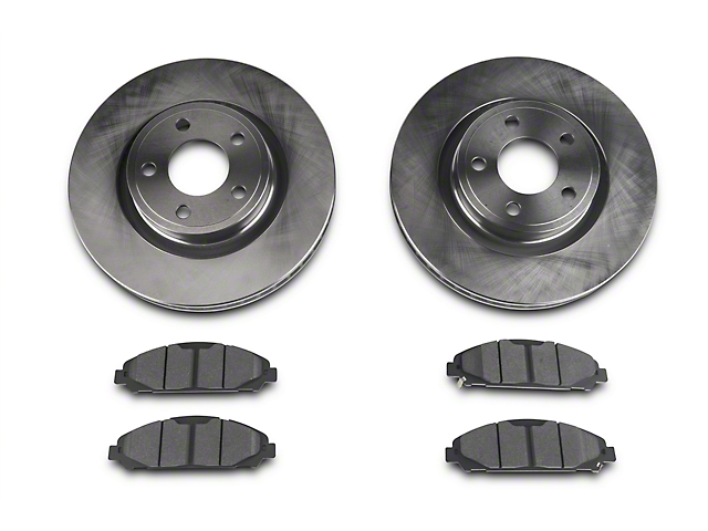 Power Stop Track Day Brake Rotor & Pad Kit - Front (15-18 V6, Standard EcoBoost)