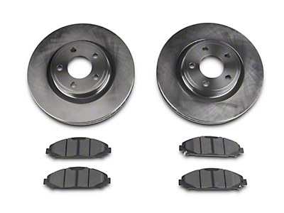 Power Stop Track Day Brake Rotor & Pad Kit - Front (15-17 V6, Standard EcoBoost)