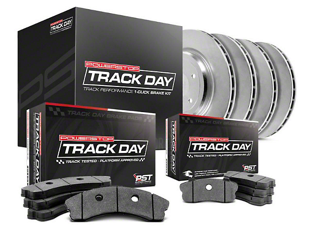 Power Stop Track Day Brake Rotor & Pad Kit - Front & Rear (15-17 GT w/ Performance Pack)