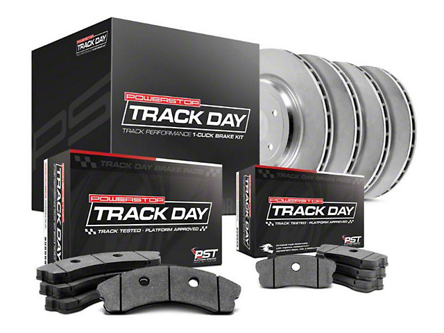 Power Stop Track Day Brake Rotor & Pad Kit - Front & Rear (15-17 Standard GT, EcoBoost w/ Performance Pack)