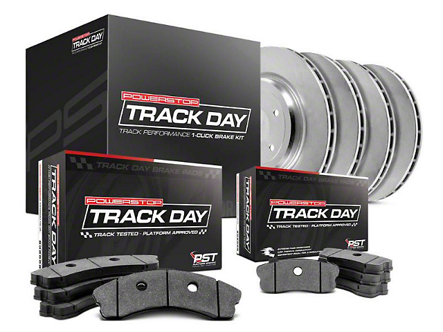 Power Stop Track Day Brake Rotor & Pad Kit - Front & Rear (15-17 V6, Standard EcoBoost)