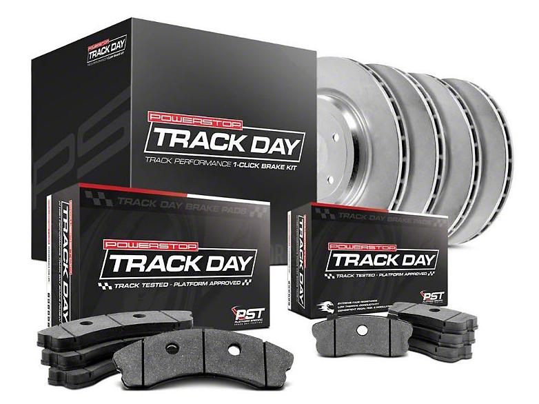 Power Stop Track Day Brake Rotor & Pad Kit - Front & Rear (15-17 V6, Standard EcoBoost)