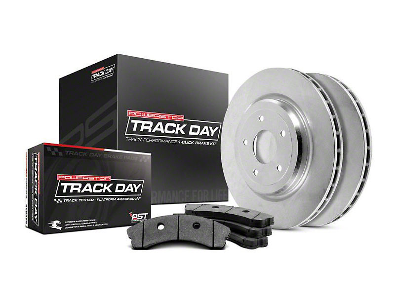 Power Stop Track Day Brake Rotor & Pad Kit - Rear (07-14 All, Excluding 2012 GT500)