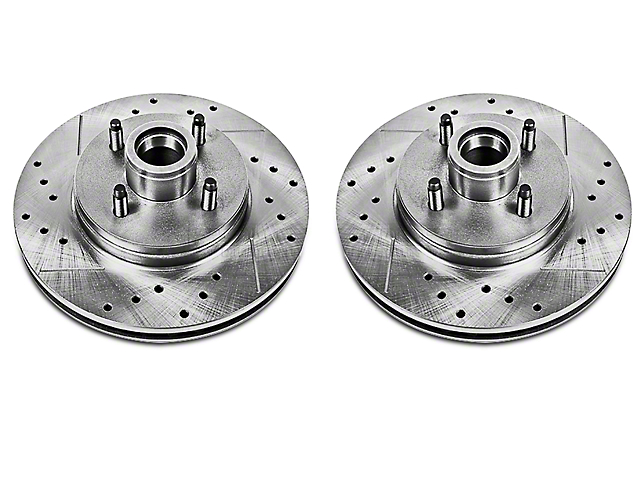 Power Stop Evolution Cross-Drilled & Slotted Rotors - Front Pair (87-93 5.0L)