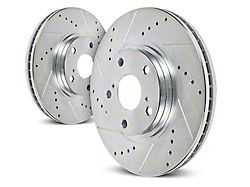 Power Stop Evolution Cross-Drilled & Slotted Rotors - Rear Pair (1993 Cobra)