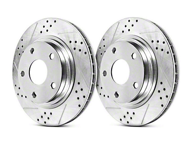 Power Stop Track Day Cross-Drilled & Slotted Rotors - Front Pair (94-04 Cobra, Bullitt, Mach 1)