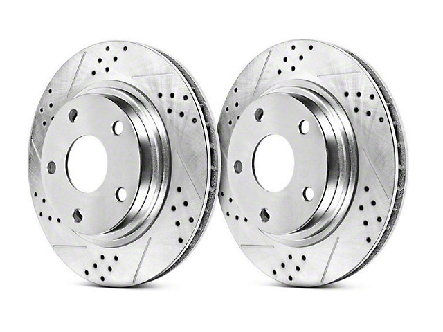 Power Stop Track Day Cross-Drilled & Slotted Rotors - Rear Pair (94-04 Cobra, Bullitt, Mach 1)