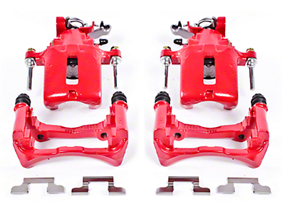 Power Stop Performance Rear Brake Calipers - Red (05-14 All)