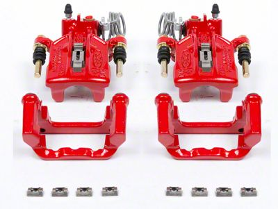 Power Stop Performance Rear Brake Calipers - Red (94-04 Cobra, Bullitt, Mach 1)