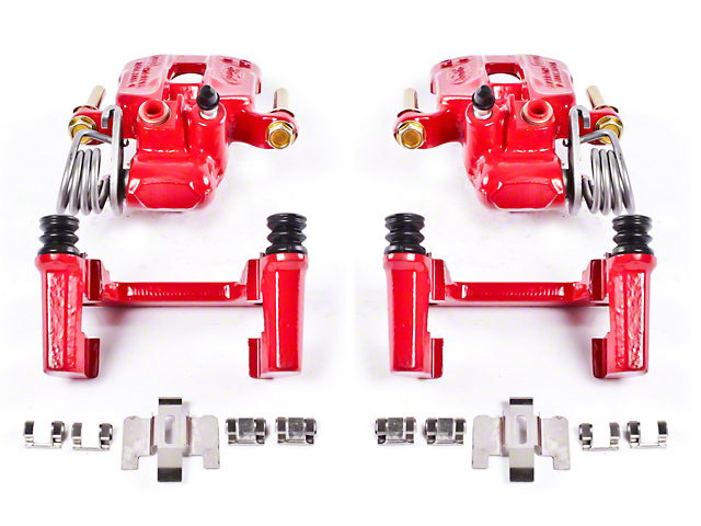Power Stop Performance Rear Brake Calipers; Red (94-04 GT, V6)