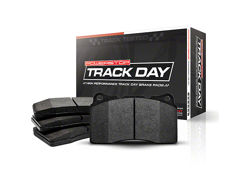 Power Stop Track Day Carbon-Fiber Metallic Brake Pads - Front Pair (15-18 GT w/ Performance Pack)