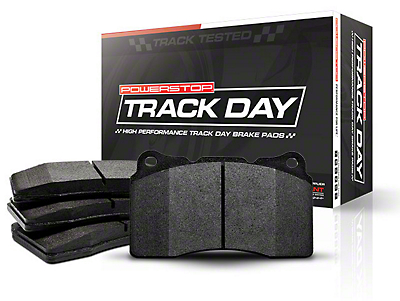 Power Stop Track Day Carbon-Fiber Metallic Brake Pads - Front Pair (15-17 GT w/ Performance Pack)