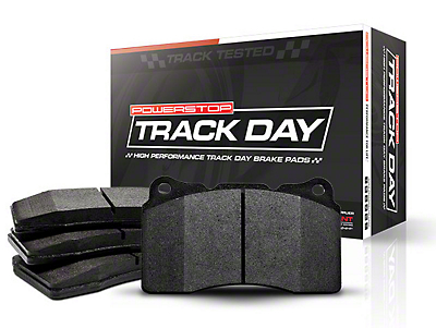 Power Stop Track Day Carbon-Fiber Metallic Brake Pads - Rear Pair (15-18 GT, EcoBoost, V6)