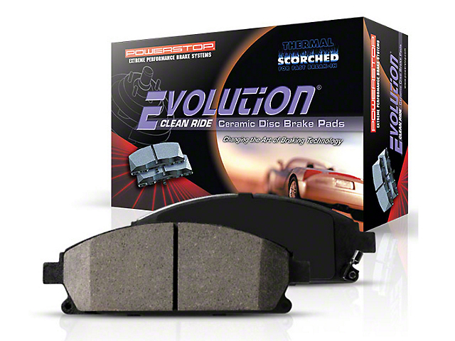 Power Stop Z16 Evolution Clean Ride Ceramic Brake Pads; Rear Pair (05-14 All)