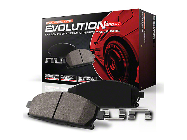 Power Stop Z23 Evolution Sport Ceramic Brake Pads - Front Pair (15-19 Standard EcoBoost, V6)