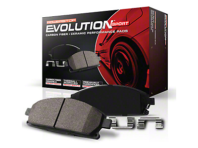 Power Stop Z23 Evolution Sport Ceramic Brake Pads - Front Pair (15-18 Standard EcoBoost, V6)
