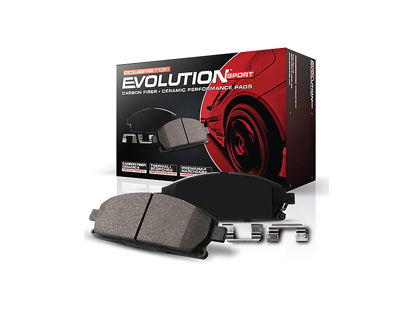 Power Stop Z23 Evolution Sport Ceramic Brake Pads - Rear Pair (15-18 GT, EcoBoost, V6)