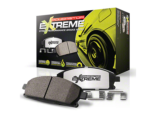 Power Stop Z26 Extreme Street Carbon-Ceramic Brake Pads; Front Pair (13-14 GT500)