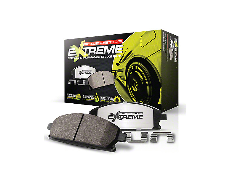 Power Stop Z26 Extreme Street Carbon-Ceramic Brake Pads - Front Pair (15-18 Standard EcoBoost, V6)