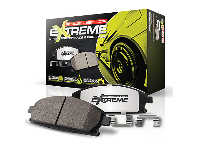 Power Stop Z26 Extreme Street Carbon-Ceramic Brake Pads; Rear Pair (15-20 GT, EcoBoost, V6)