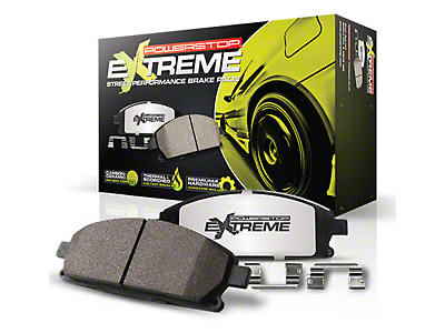 Power Stop Z26 Extreme Street Carbon-Ceramic Brake Pads - Rear Pair (15-18 GT, EcoBoost, V6)