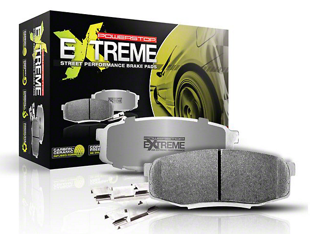 Power Stop Z26 Extreme Street Carbon-Ceramic Brake Pads; Rear Pair (15-20 GT350)